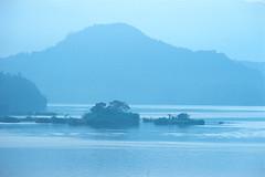 2-34 (EH500) Tags: mountain lake color slr film water sunrise landscape nikon scenery fuji taiwan slide velvia 135 nikkor  fujichrome nikoncoolscan  sunmoonlake angenieux rvp fe2 70210mm  rvp100 angenieux70210mm    fujichromevelvia   angnieux scanbynikon9000ed