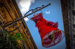Red Dress original (HiRoAki Saneyociy Lunar) Tags: red europe dress pentax euro budapest bluesky 2015  18135  k52  k5