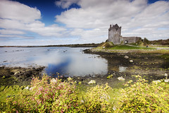 kinvara castle (BarryKelly) Tags: ireland sky cloud castle galway stone refelection
