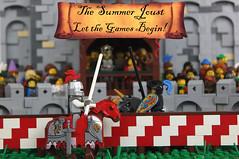 The Summer Joust Begins! (soccersnyderi) Tags: summer castle model lego medieval creation spectators prizes joust tilt moc summerjoust