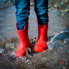 martin flaque2 (gov_phil) Tags: red water walking boots rubber