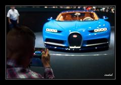 Chiron Shot (iandub74) Tags: blue car automobile phone shot suisse geneva swiss salon bugatti genve supercar palexpo 2016 chiron iandub iandub74