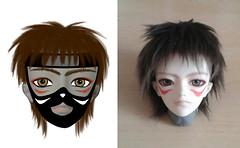 ninja-concept-face-up (Wildcard_Snowy) Tags: pink angel skin head dream normal ming min nsp aod