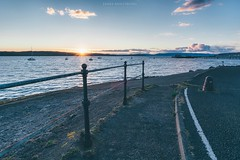 Fairlie Sunset, Ayrshire (itsjamesy) Tags: sunset red seascape landscape scotland nikon north scottish sunrays isleofarran millport ayrshire largs fairlie cumbrae nikon1224mm d7100 vsco