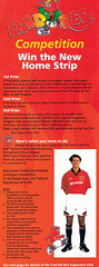 Manchester United - Official Merchandise Catalogue - 1994 - Inset Page (The Sky Strikers) Tags: old red classic manchester souvenirs official united fred merchandise 1994 collectors trafford catalogue the leisurewear