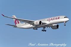 QATAR Airbus A350-941 A7-ALE (MSN007) Tags: airplane airport aircraft air jet jfk airbus airways airlines 900 airliner qatar a350 kjfk a350941 a7ale