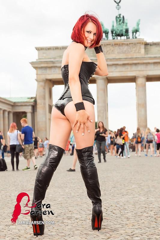 Redhead girls Sexy latex