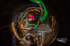 Lucid Rhythm (AJ Hge Photography) Tags: ajhgephotography ajhegephotography 2015 event furtographer night 60d canon florida fun talent thejoint daytona daytonabeach venue fisheye opteka longexposure light lighttrails dj electronic edm music stevensloan samsunrising