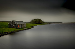 On The Waterfront (Robgreen13) Tags: uk longexposure trees water rain landscape cornwall boathouse stopper ndfilters camelford crowdyreservoir