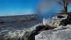 Splashzone (_Matt_T_) Tags: winter weather pier video wind stcatharines ricoh portdalhousie wg4