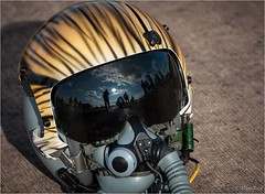 Tiger helmet (dimred1) Tags: reflection tiger helmet airshow tigre fairford casque riat spotter airtattoo