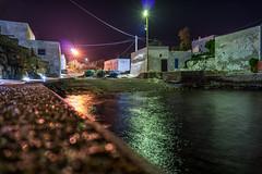 Marina (FrancescoPalmisano) Tags: sea italy night port marina boats seaside italia harbour small barche porto puglia notte lampioni stelle fari porticciolo