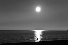 Controluce al tramonto (cla.iacono) Tags: blue light sea sky bw beach nature tramonto mare campania natura e napoli angelo claudio sole terra ischia sant nero spiaggia controluce sabbia isola maronti bainco iacono