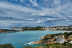 Winder time at Vouliagmeni (Paterdimakis) Tags: ocean city travel blue light sky urban cloud seascape tree green art nature water beautiful landscape island see town mediterranean gulf time fine athens greece cape winder voula saronic attica vouliagmeni