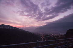 (Lorenzo Scudiero) Tags: road street travel pink winter sunset sky mountains love nature fog youth clouds 35mm landscape ngc hills lilac tumblr lorenzoscudiero