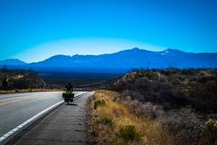 Cycling towards Sierra Visa, AZ.