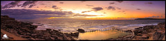 Mahon Pool Sunrise (Davo the Underdog :)) Tags: ocean morning travel sky panorama beach water pool clouds swim sunrise landscape rocks surf waves sydney scenic australia serenity nsw maroubra tidalpool mahon rockpool