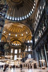 Hagia Sofia Dome (Nomadic Photographer) Tags: church architecture turkey sofia istanbul mosque wanderlust hagiasofia sultanahmet hagia