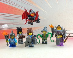 Some Nexo Knight Upgrades (Mr.Savath_Bunny) Tags: castle wings vines wolf lego wand ivy knights devil lantern custom minifigures brickwarriors nexoknights
