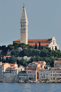 Rovinj. The church of Saint Euphemia