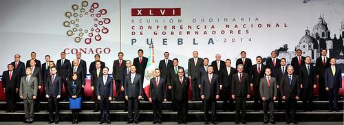 El gobernador Javier Duarte de Ochoa, en la Fotografía Oficial de la Conferencia Nacional de Gobernadores (CONAGO)