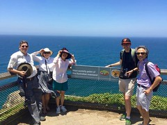 Most Easterly Point of the Australian Mainland (Piedmont Fossil) Tags: ocean mike sign fence pacific glenn mary australia ikuko toshi capebyron