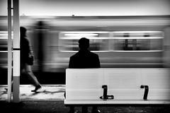 I'm leaving..... (Jonathan Vowles) Tags: mono sign blur railway clapham