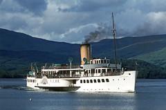 'Maid of the Loch' nearing Luss. Jun'81. (David Christie 14) Tags: lochlomond luss maidoftheloch