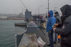 DSC_1677 (zeynepcos) Tags: bridge winter snow man cold fishing fisherman outdoor istanbul mosque galata karakoy eminonu