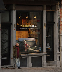 Portrait (Natali Antonovich) Tags: street winter brussels portrait window architecture belgium belgique belgie smoke shopwindow relaxation sablon reverie dezavel sweetbrussels