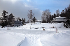 (Jean Arf) Tags: winter lake snow ice frozen motel february wildwood adirondack adk lakeplacid 2015