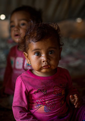 gypsy todders, Central County, Kerman, Iran (Eric Lafforgue) Tags: poverty girls portrait people cute face childhood vertical kids children photography kid eyes asia child iran character traditional poor culture adorable persia indoors tribes nomad tribe gypsy 2people twopeople gypsies kerman cultural middleeastern nomadic lookingatcamera   childrenonly  iro  centralcounty colourpicture  khoshneshin irandsc06962