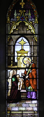 St Blaise heals a child (Lawrence OP) Tags: france montreal saints stainedglass blaise martyr healing bishop