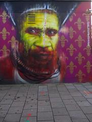 Tribal faces on the streets of London (IanAWood) Tags: urban streetart graffiti stpancras walkingwithmynikon lbofcamden nikkorafs28mmf18g nikondf