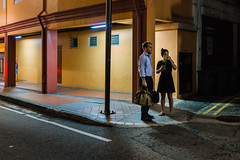 Anticipation. (Presence Inc) Tags: street portrait people stilllife colour architecture night 35mm dark photography singapore candid sony streetphotography angles architectural nightlife fullframe cinematic isolated nightpeople mirrorless rx1r rx1rm2