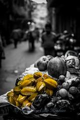 Star Fruits... (Syahrel Azha Hashim) Tags: street travel light vacation india holiday detail fruits 35mm prime nikon colorful dof market getaway streetphotography naturallight stall handheld shallow moment streetmarket olddelhi pc9 selectivecoloring starfruits exoticfruits d300s syahrel