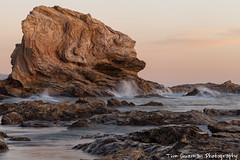 Corona Del Mar (TimGuzmanPhotography) Tags: ocean california longexposure sea sky water canon sand rocks waves southerncalifornia 70200 coronadelmar