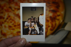 PizzaRoid (Evelien Heijne) Tags: friends boy people woman man love girl fun polaroid person hand room indoor sharp pizza