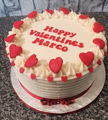 Valentine heart white chocolate raspberry cake