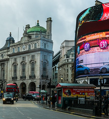 Piccadilly Circus ( Panasonic Lumix LX100) (markdbaynham) Tags: leica city urban london westminster lens lumix lights neon display zoom circus famous capital central piccadilly panasonic fixed metropolis dmc 43rd compact 43 lx fourthirds evf lx100 2475mm f1728 lumixer