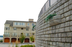 Redi-Rock_cobblestone-gravity-housingdevelopment-MDC-SuttonsBayCondos (redirockphotodatabase) Tags: michigan fences cobblestone suttonsbay retainingwall mdc suttonsbaymi chicagoarea gravitywall redirock commercialapplication planterblocks gardencornerblocks suttonsbaycondos