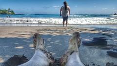Hamoa Beach Relaxing (BnGphotos) Tags: travel vacation seascape landscape hawaii maui east hana shore beaches roadtohana hamoabeach mauihawaii