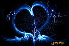 One Life - 2016. (Guillaume J. Plisson) Tags: light lightpainting love painting lightdrawing lightwriting mountainhardwear sooc lightgraff ledlenser loweprofrance