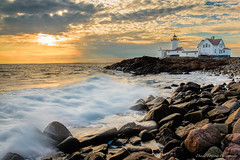 Eastern Point Lighthouse at Sunset, Gloucester, MA.