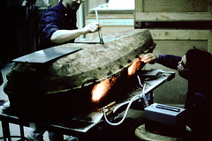 1990-04 Preparing Iron Coffin of Walter Weir from Liberia Plantation for opening (mgrhode1) Tags: civilwar archeology manassasva nationalmuseumofhealthandmedicine liberiaplantation
