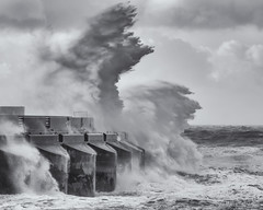 The morning after Storm Katie (Sue MacCallum-Stewart) Tags: sea weather marina sussex coast brighton wind rough storms stormkatie