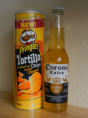 Balanced diet. (Oxford77) Tags: beer diet tortillas yinyang pringles mexicanbeer coronaextra balanceddiet