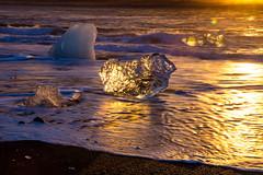 Icleand Jkulsrln (Steve W3) Tags: sea black ice beach sunrise blacksand iceland sand waves outdoor lagoon glacier sands blackbeach jkulsrln glacierlagoon beachsunrise iceonbeach iceonblacksands