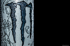 Monster (@Dpalichorov) Tags: white black macro wet monster blackbackground drops nikon energy drink background rough makro energydrink ultra engraved 500ml nikond3200 whitemonster d3200 monsterultra