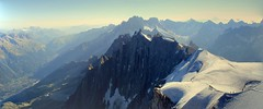 view from Aiguille du midi II (Iriwindel) Tags: panorama snow mountains alps frenchalps aiguilledumidi